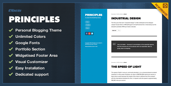 ThemeForest Principles WordPress Blogging Theme 3422432