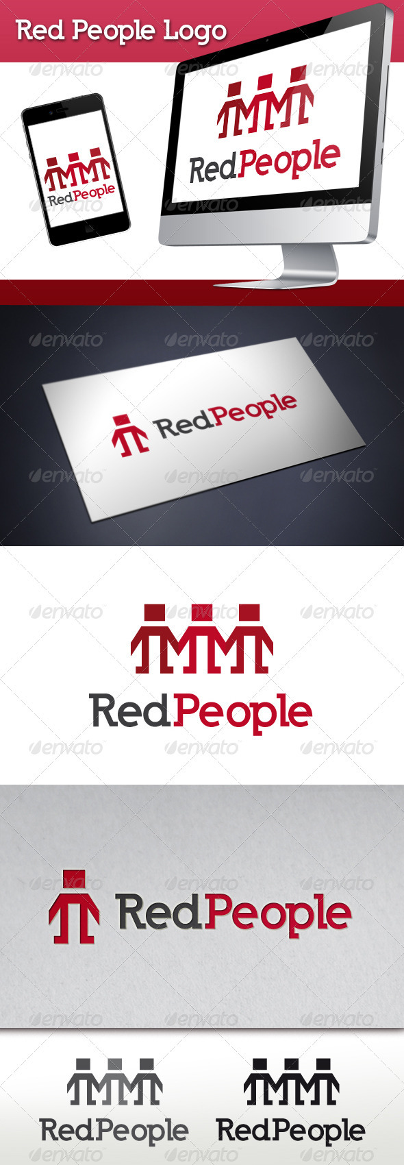 GraphicRiver Red People Logo Template 3582417
