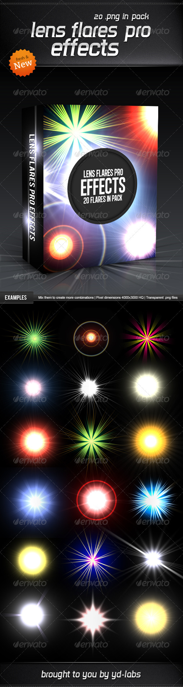 GraphicRiver Lens Flares Pro Effects 3628831