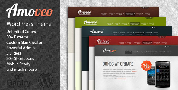 Theme preview.  large preview Amoveo   ThemeForest Multipurpose WordPress Theme