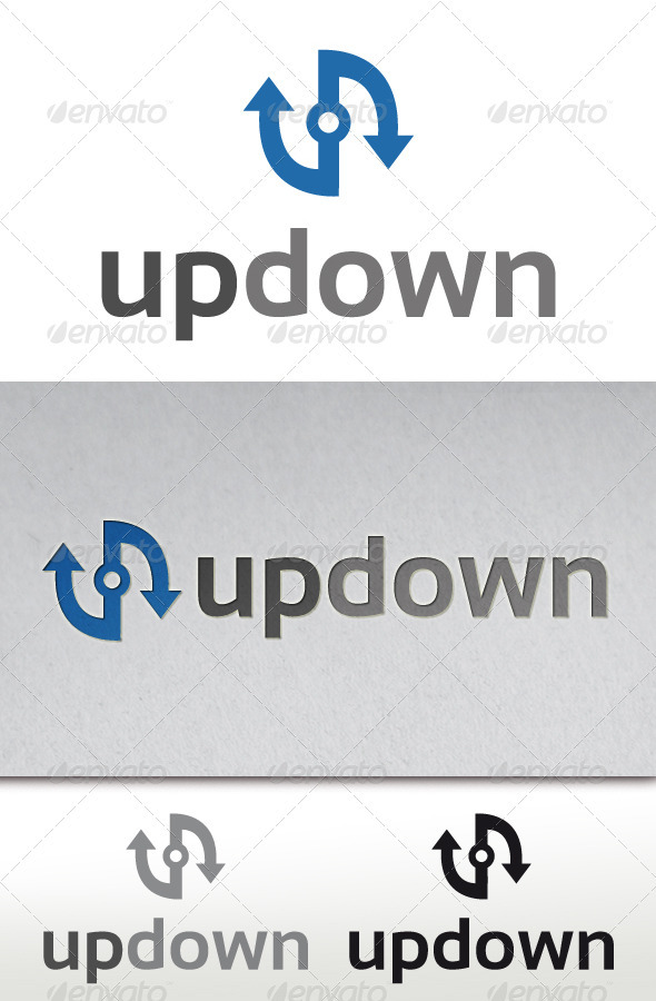 GraphicRiver Up Down Logo Template 3629282