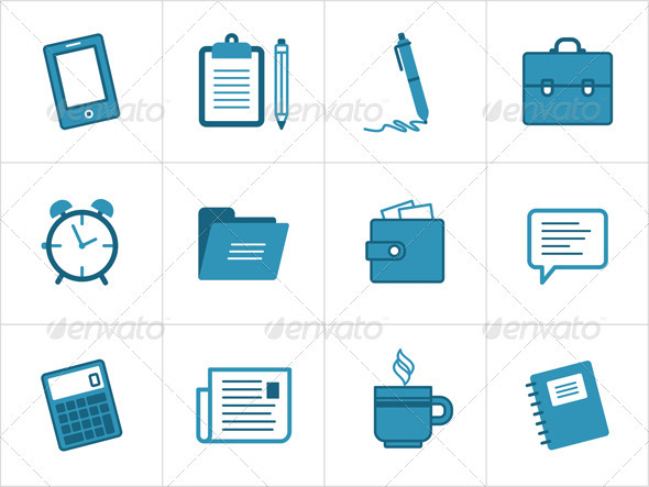 GraphicRiver Office And Business Icons 3629326