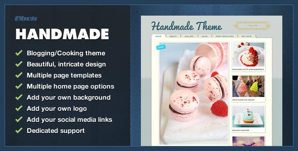 ThemeForest Handmade Personal WordPress Blogging Theme 1130466