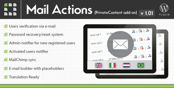 CodeCanyon PrivateContent Mail Actions add-on 3606728