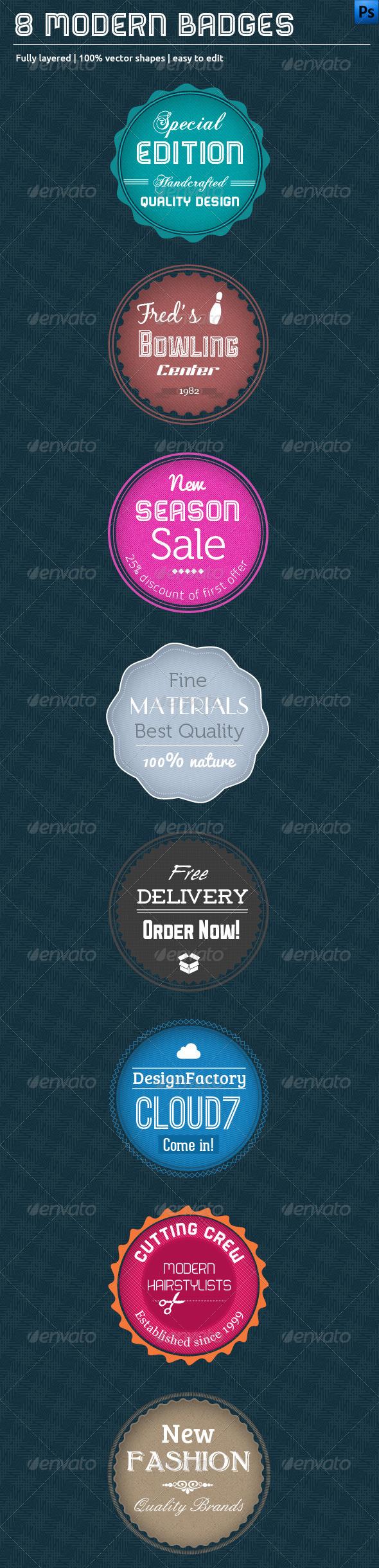 GraphicRiver 8 Modern Badges 3629884