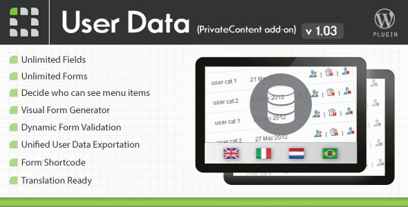 CodeCanyon PrivateContent User Data add-on 2399731