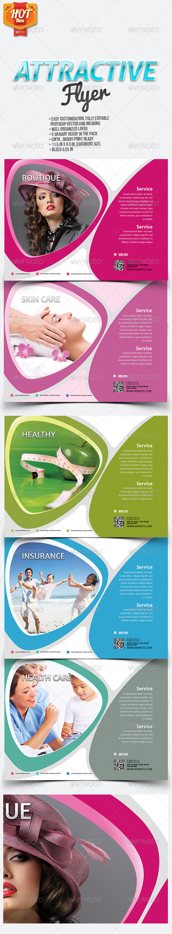 Attractive Flyer - Commerce Flyers