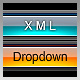 XML Dropdown Menu - Vista Blue - ActiveDen Item for Sale