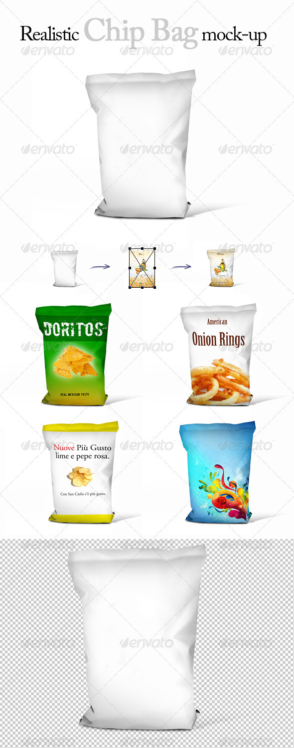 GraphicRiver Realistic Chips Bag Mock-Up 3630479