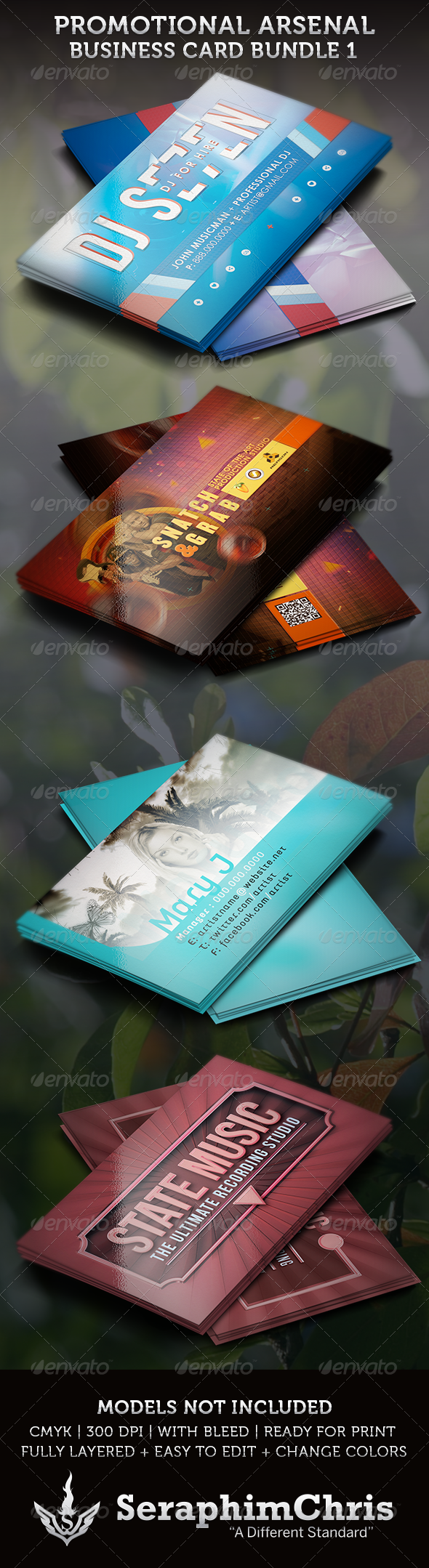 GraphicRiver Promotional Arsenal Business Card Bundle 1 3630509