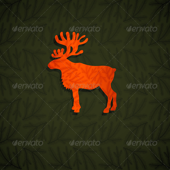 GraphicRiver Red Reindeer 3630553