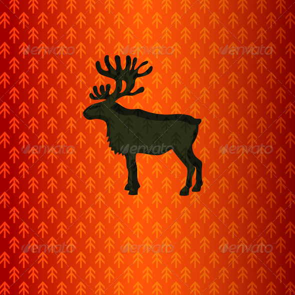 GraphicRiver Red Reindeer 3630565