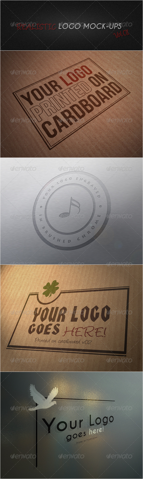 GraphicRiver Realistic Logo Mock-ups Vol.01 3272778