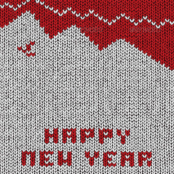 GraphicRiver Happy New Year Sweater 3630685