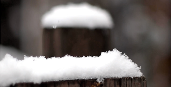 Snow Falls On Wooden Planks 1