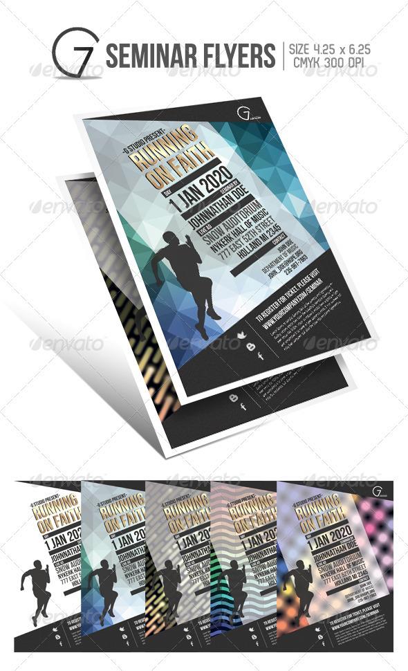 GraphicRiver Gstudio Seminar Flyers Template 3591597