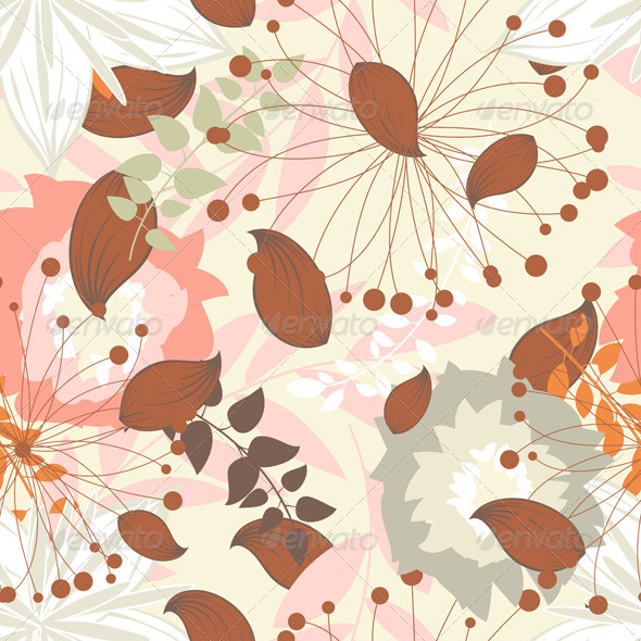 GraphicRiver Seamless Floral Pattern 3631026
