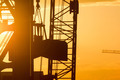 Silhouette of heavy cargo crane - PhotoDune Item for Sale