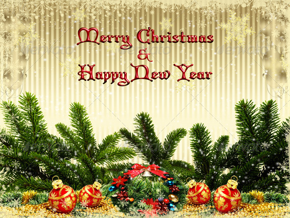 Merry Christmas Card 9 - Stock Photo - Images