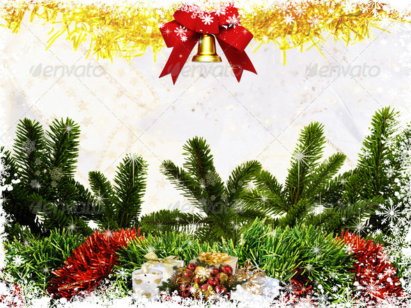 Merry Christmas Card 1 - Stock Photo - Images