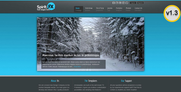 SpiritFX – Business and Portfolio Template