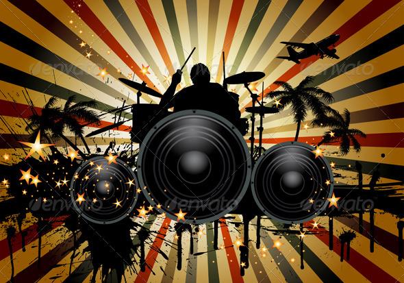 GraphicRiver Musical Grunge 3631913