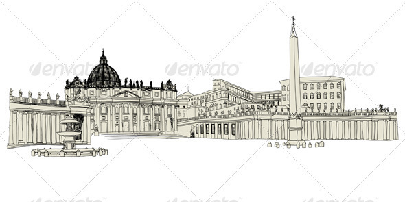 GraphicRiver Vatican Sketch 3631917