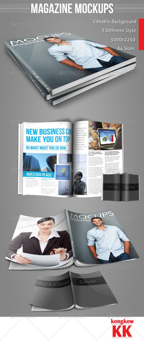 GraphicRiver Magazine Mockups 3530911