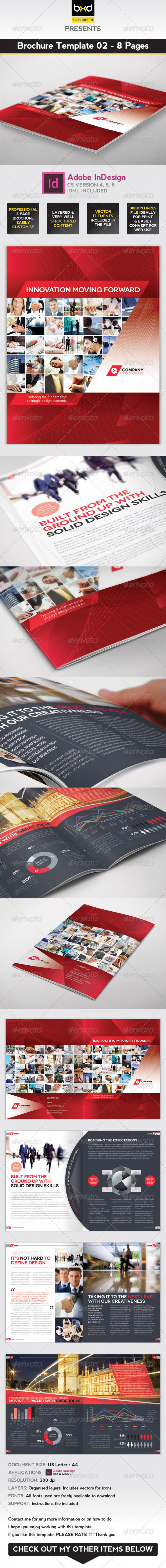 Brochure Template - InDesign 8 Page Layout 02 - Corporate Brochures