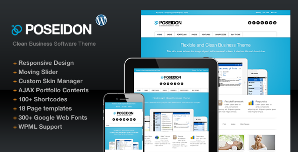 ThemeForest Poseidon Clean Design Business Software Company 2804736