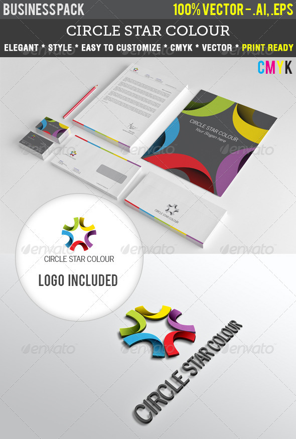 GraphicRiver Circle Star Colour Indentity Pack 3632505