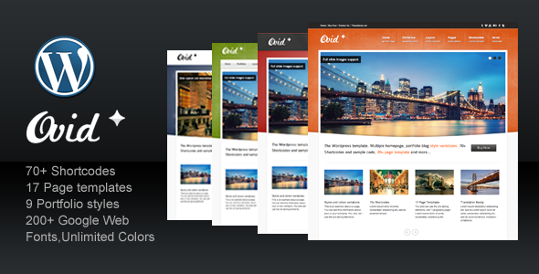 ThemeForest Ovid for Business Corporate Portfolio 710654