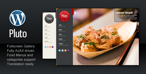 ThemeForest Pluto Fullscreen Cafe and Restaurant 534738