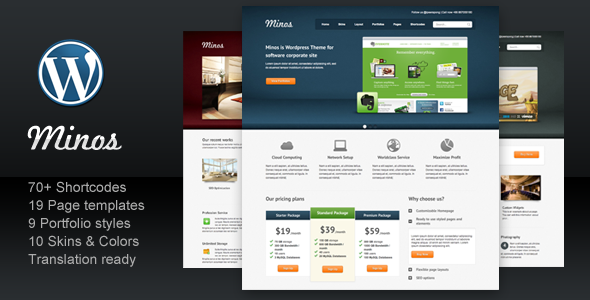 ThemeForest Minos for Software Business Corporate Portfolio 492742