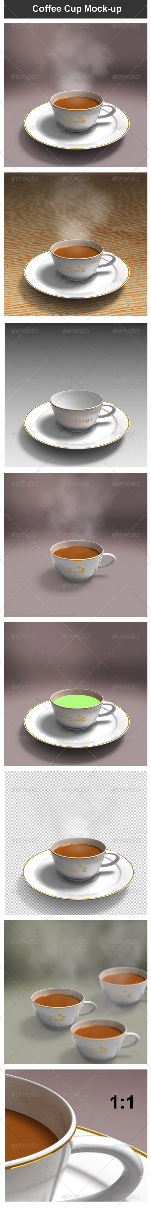GraphicRiver Coffee Cup Mock-up 3633092