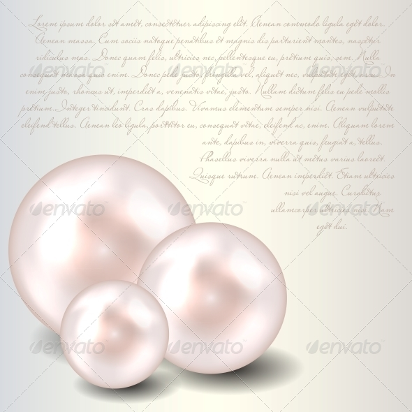GraphicRiver Beauty Pearl Background Vector Illustration 3633458