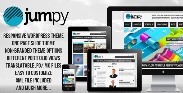 ThemeForest JUMPY Powerful Professional Responsive Wordpress 3288072
