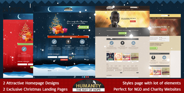 ThemeForest Humanity Church Non Profit PSD Template 3634399