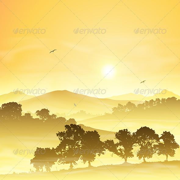 GraphicRiver Misty Landscape 3634839