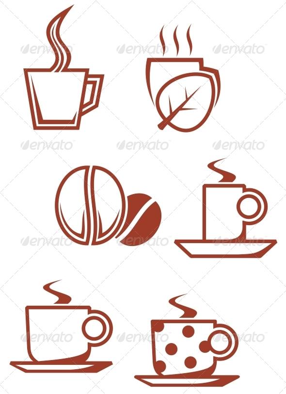 GraphicRiver Tea and coffee symbols 3634841