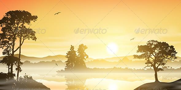 GraphicRiver River Landscape 3634853