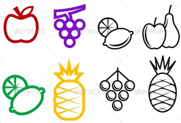 GraphicRiver Fruit Symbols 3634964