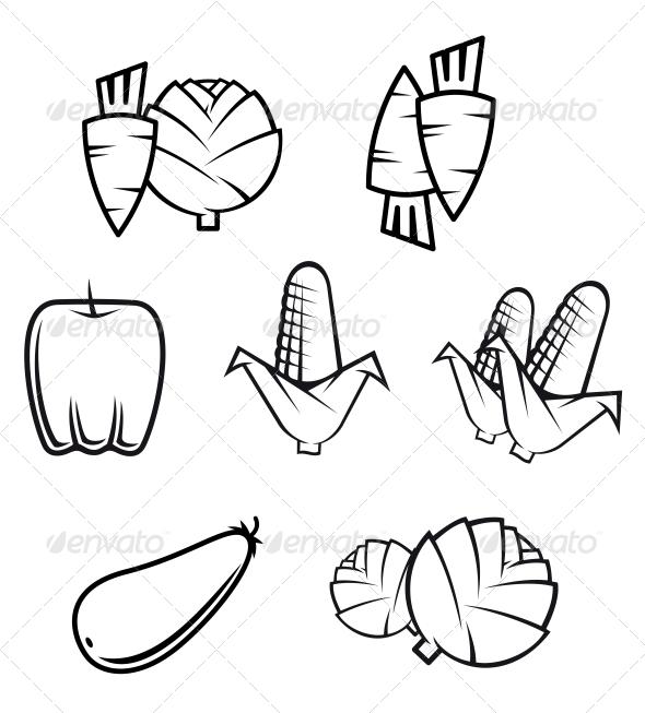 GraphicRiver Set of Vegetables 3635006