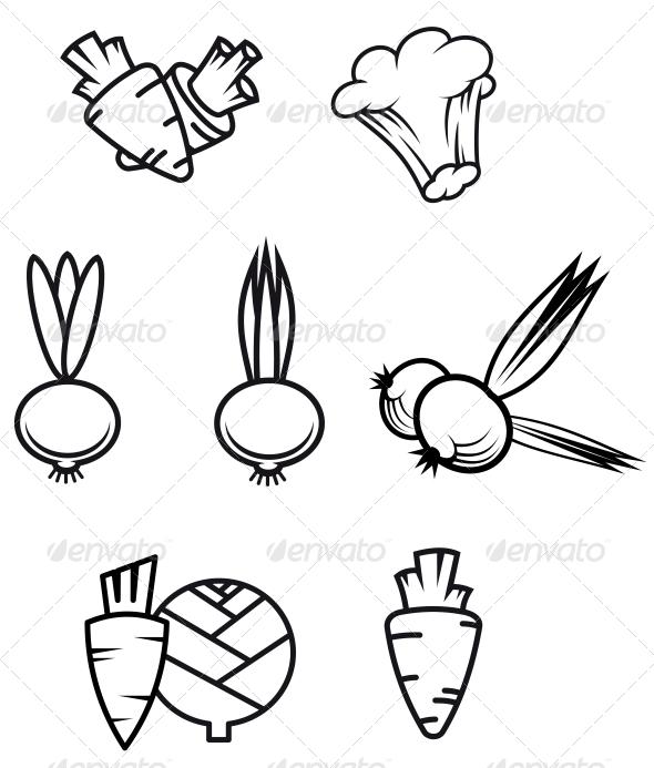 GraphicRiver Set of Vegetables 3635008