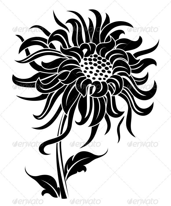 GraphicRiver Black Flower 3635010