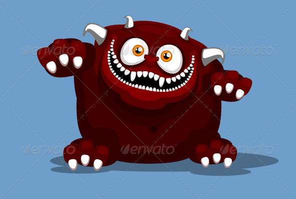 GraphicRiver Big Red Monster 3635139