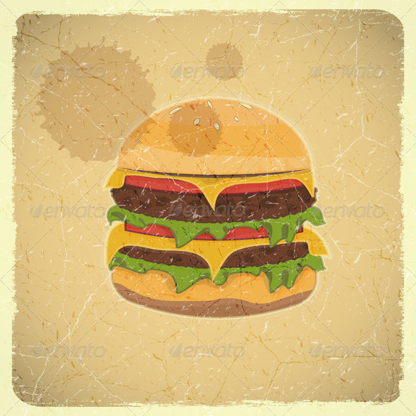 GraphicRiver Grunge Cover for Hamburgers Menu