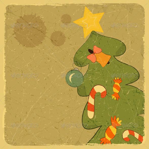 GraphicRiver Christmas Tree Card 3635205