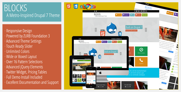 Blocks - A Metro-Inspired Responsive Drupal Theme