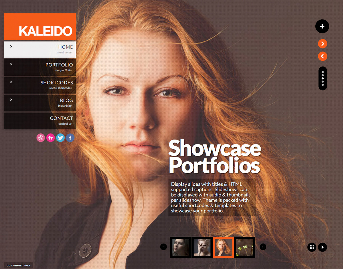 Kaleido Responsive Fullscreen Studio for WordPress